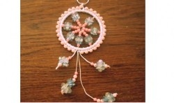 Tutorial: Mini Sparkly Beaded Dream Catcher (Item ID: 101298, End Time : N/A) - DIY Lessons - Learn Jewelry Making With Online Lessons, Videos and PDF Tutorials: Dream Catchers, Craftydream Catcher, Diy Lessons, Beads Dreams, Beads How To, Crafty Dreams Catcher, Sparkly Beads, Minis Sparkly, Jewelry
