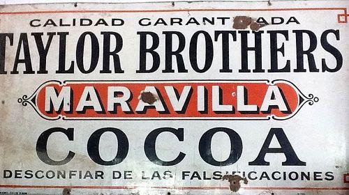 Letrero cocoa, Carroza Antiguedades