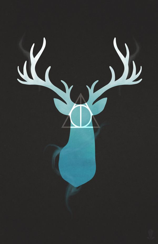 Harry Potter Stag + Deathly Hallows — Designspiration