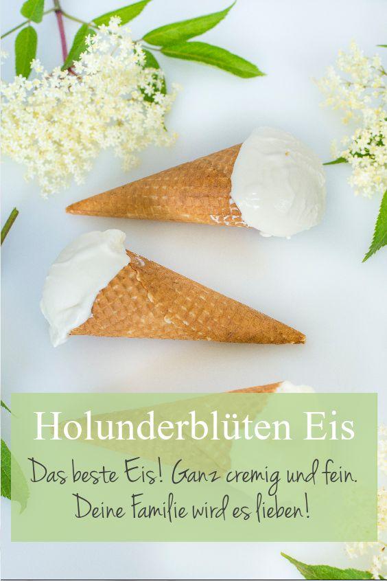 Holunderblüten Eis ist eins der besten Glace Sort…
