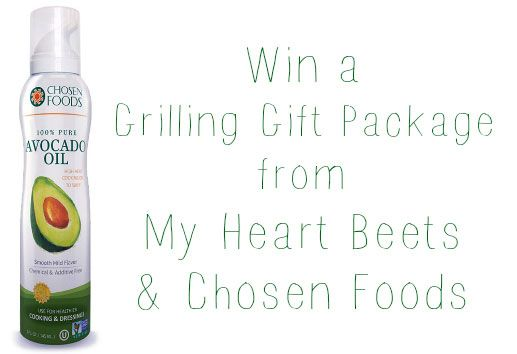 Win some avocado oil spray from My Heart Beets blog! Plus..$150 worth of grilling accessories!