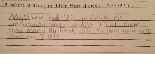 Third Grader's Unexpected Answer to Math Problem