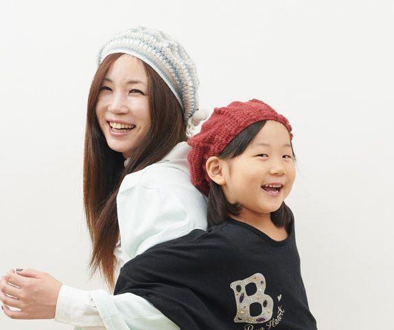 コンサバ(ママ・キッズ)の配色ベレー帽 | 手づくりレシピ | クロバー株式会社