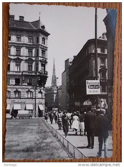 Vienna zona Innere Stadt foto 7X10 anni 50/55 si nota il Cafe Tirolerhof e Rostisserie Coq d´or - Delcampe.it