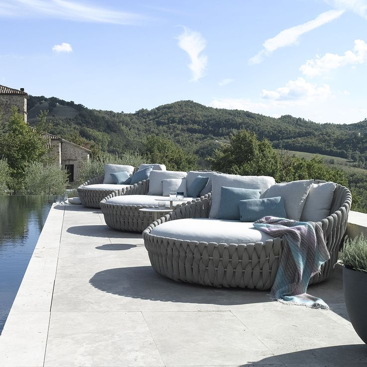 frame powdercoated stainless steel braiding polyofine textilene pillows optional sold garden loungersoutdoor seatingoutdoor loungeoutdoor