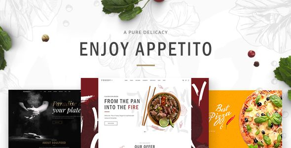 Appetito - A Modern Theme for Restaurants and Cafés Template Download