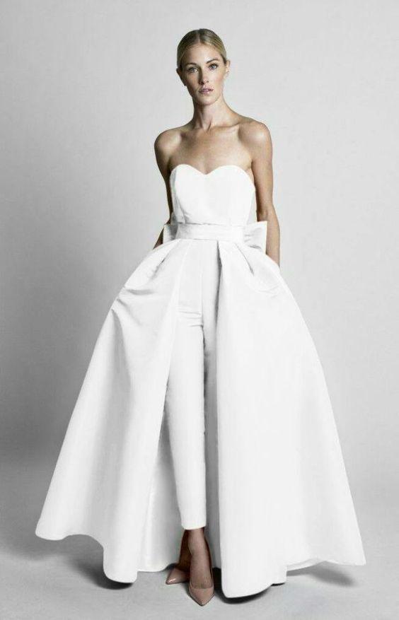 223197430bf 40+ Jumpsuit Wedding Dresses Ideas 34 – Fiveno