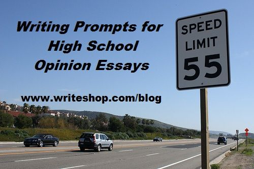 Essay prompts high school
