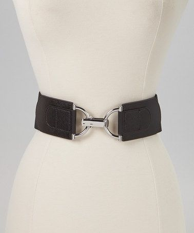 Take a look at this Black & Silver Interlock Stretch Belt by Steve Madden on #zulily today! $14 !!