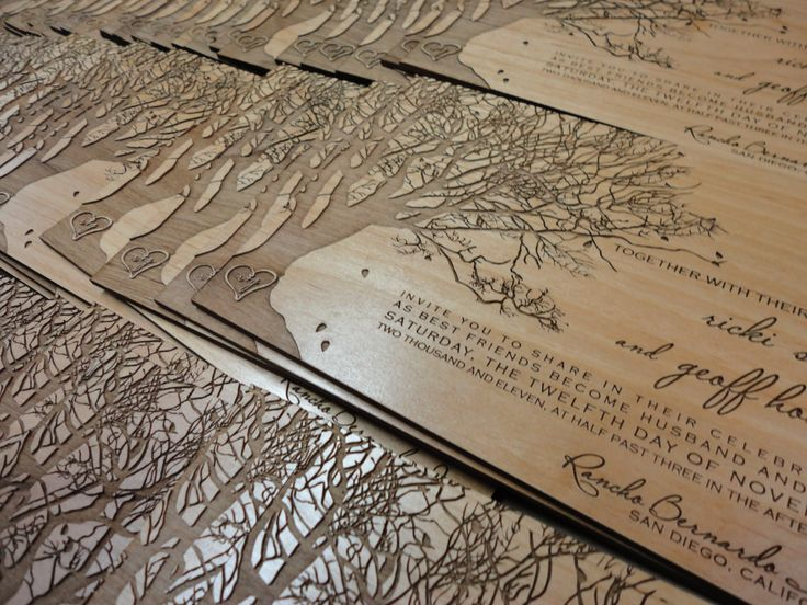 Real Wood Wedding Invitations: Pin By Moditional Designs On Calligraphy, Letterpress