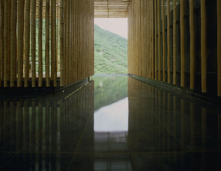 """The interior of the """"Great Bamboo Wall"""" building."""