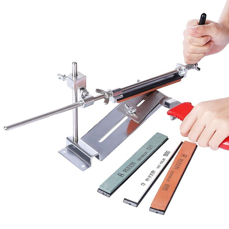 Knife Sharpener Tool Kitchen Grinder Sharpening System With 4 Whetstone
