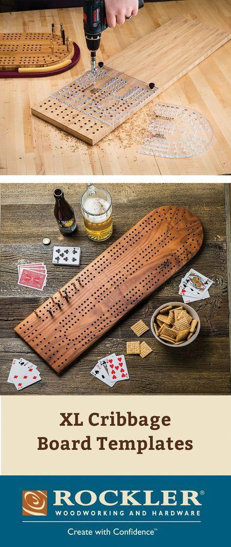 Xl Cribbage Board Templates 3 Player Curved Track Fast Accurate