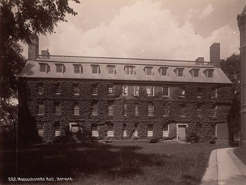 Massachusetts Hall, Harvard College - A. D. White Architectural Photographs, Cornell University Library