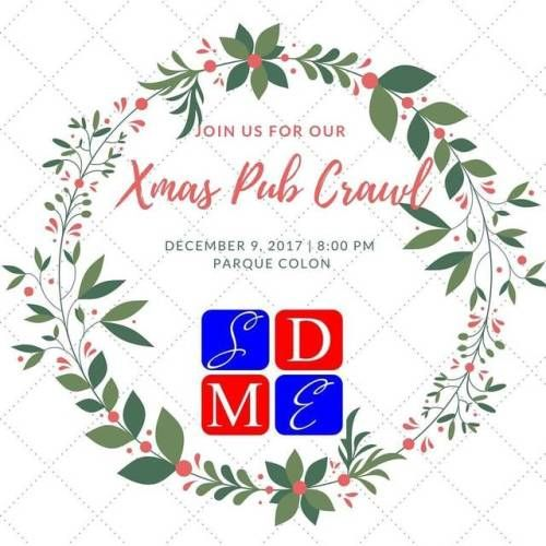 Join us Saturday, December 9th @ 8pm in Parque Colón for our Christmas Pub Crawl!! Welcome drinks provided for the first to arrive!! #pubcrawl #santodomingo