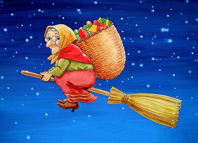 La Befana is a famous day in Italy. In the night from 5 to 6 January a small, old woman who flies on a broomstick brings gifts, candy and chocolate to Italian children who were sweet. Kids who were bad getting ash and coals.