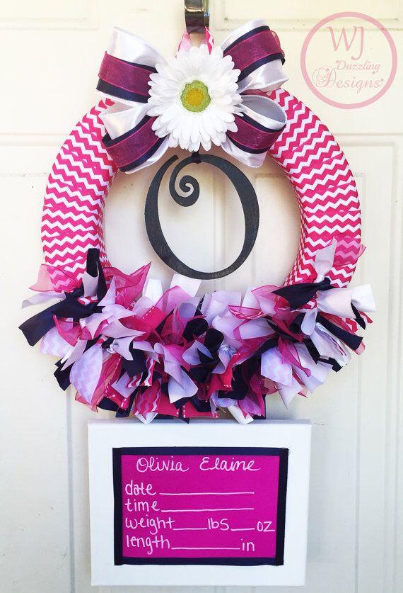 13 best baby hospital door wreaths images on pinterest for Anchor door decoration