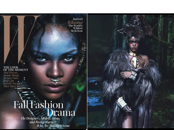 Rihanna's Wild Tribal Makeup On 'W' Magazine