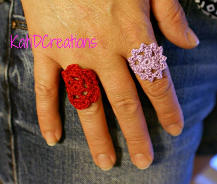 A Crocheted Ring - Free Crochet Pattern. See more at:  http://katidcreations.com/put-a-ring-on-it-a-crocheted-ring/