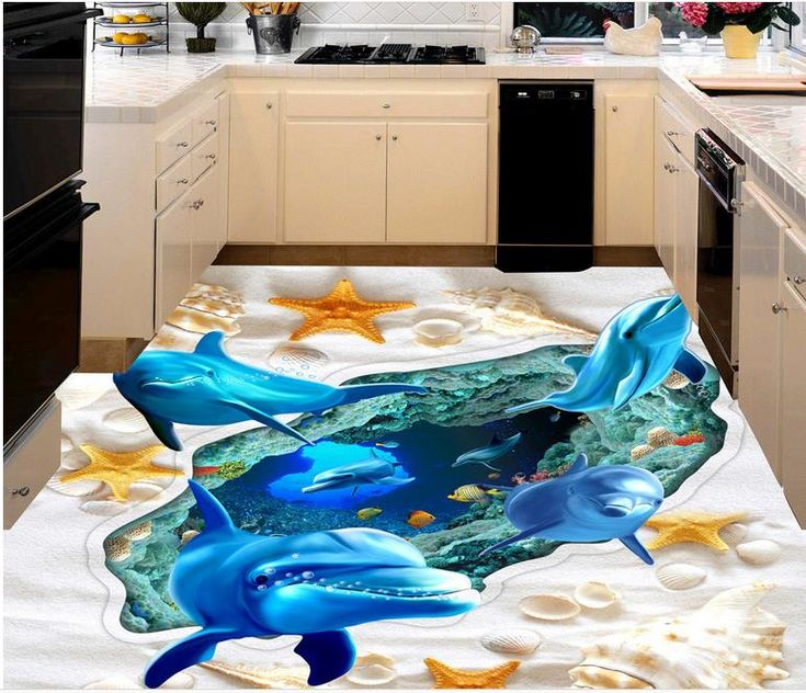 3D flooring designs and murals for kitchen epoxy floor painting  Awesome collection of 3D floor murals, painting, design images with self-leveling 3D epoxy flooring for all rooms, 3D bathroom floor murals, and other designs for living rooms, bedrooms and kitchens