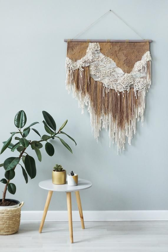 Woven Wall Hanging Large Weaving Wall Hanging Terracotta Bedroom And Living Room Wall Art Biomorphic Woven Wall Art Woven Wall Art Weaving Wall Hanging Large Woven Wall Hanging #wall #tapestry #for #living #room