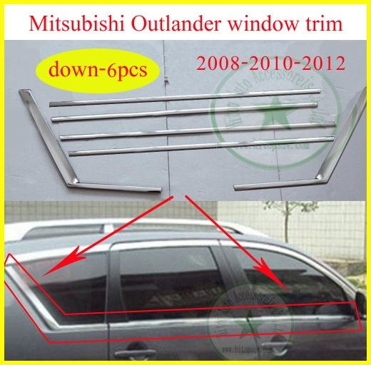 49.50$  Watch here - http://aiafe.worlditems.win/all/product.php?id=1426500947 - window trim /frame/sill for Mitsubishi Outlander 2008 2009 2010 2011 2012, 6pcs-18pcs, three choices, different price