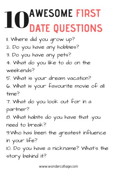 10 FIRST DATE QUESTIONS TO ASK - The Wonder Cottage