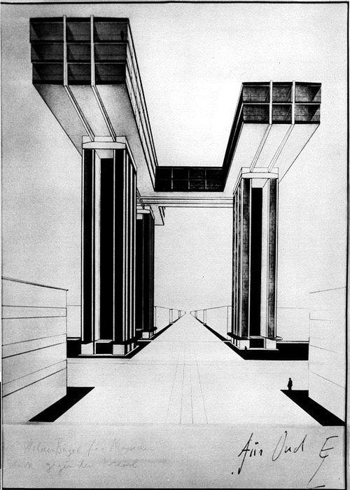 Horizontal Skyscraper - El Lissitzky
