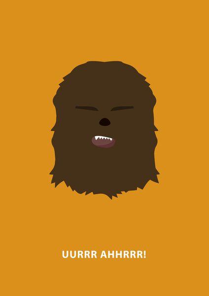 Star Wars Minimalism - Chewbacca Stretched Canvas