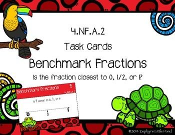18 best teachers pay teahers images on pinterest school teacher benchmark fractions math task cards fandeluxe Gallery