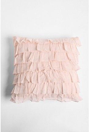 .Waterfall Ruffles, Pink Ruffles, Urban Outfitters, Pastel Pink, Pale Pink, Girls Room, Throw Pillows, Ruffles Pillows, Girl Rooms