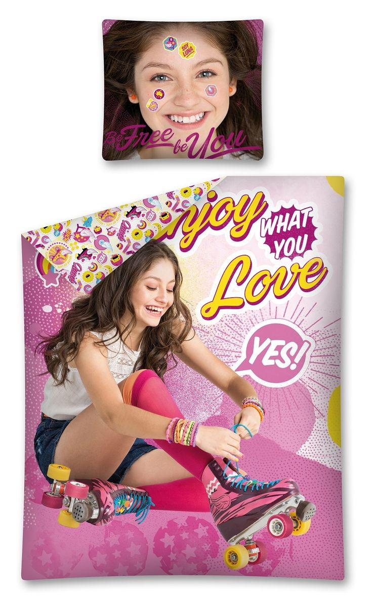 Lenjerie de pat Disney Soy Luna este un cadou minunat pentru copilul tau si care va Fata de perna - 70 x 80 cm Husa plapuma - 160 x 200 cm