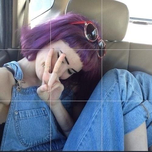 purpple hair