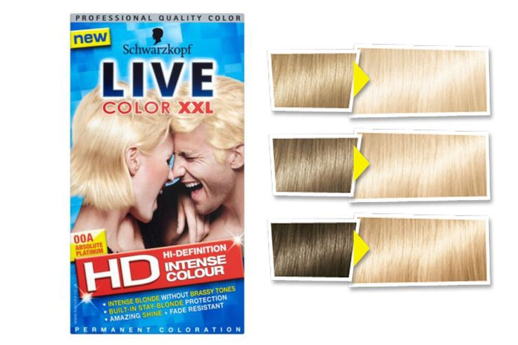 Schwarzkopf XXL Colour Live Blonde in Absolute Platinum