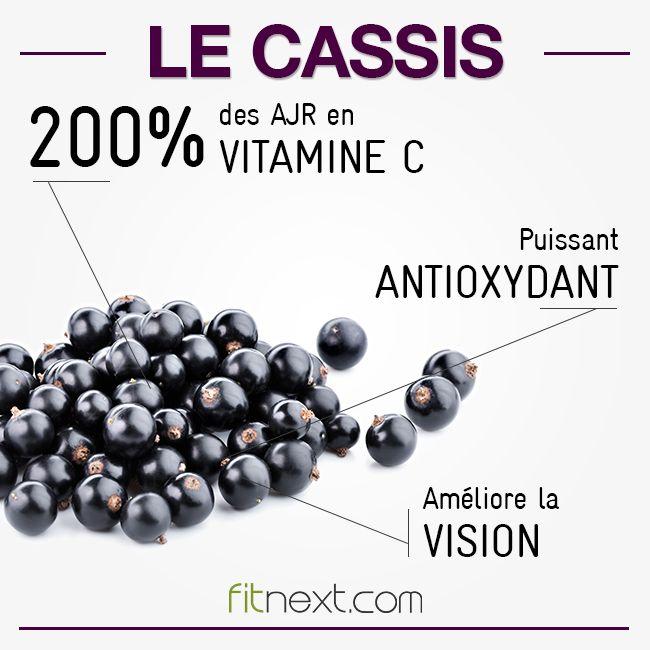 Une barquette de 125g de cassis couvre 200% de vos apports en vitamine C !! Ce fruit est également riche en antioxydants. A consommer sans modération cet été :) #freshfruits #summerfruits #summerfood