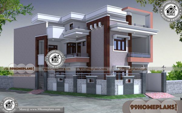 Narrow Corner Lot House Plans 60 2 Storey House Design Pictures Plans Courtyard House Plans 2 Storey House Design House Design Pictures