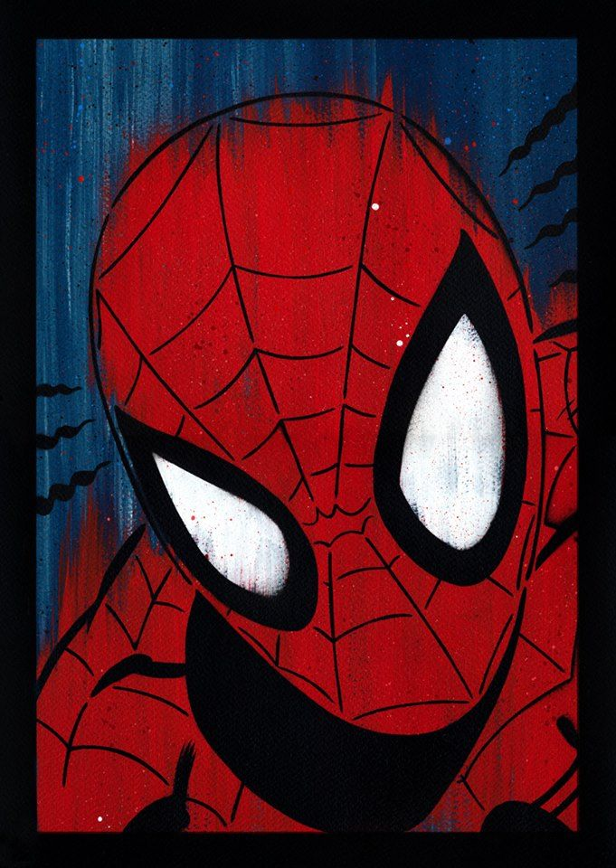 spider-man spray-painted