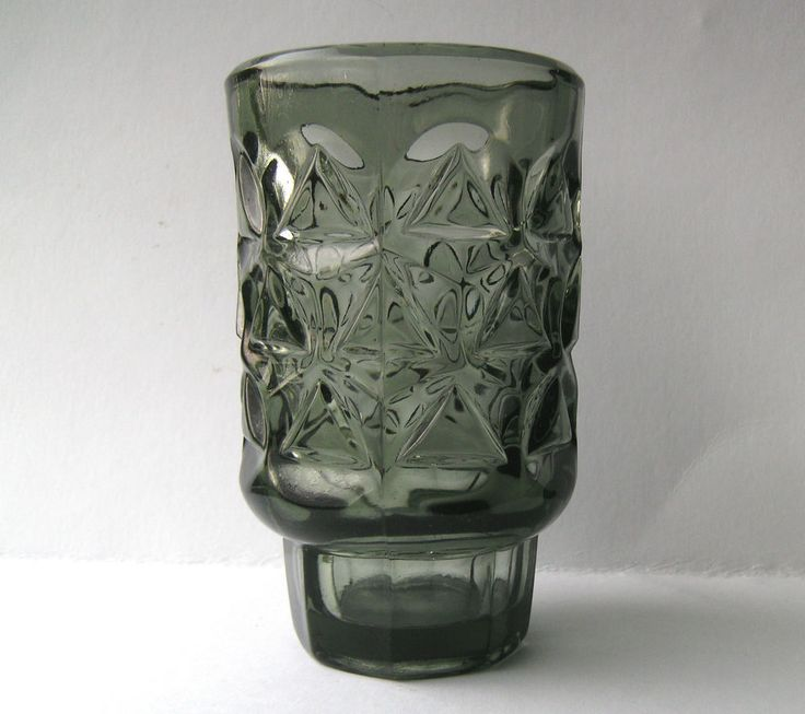 Vintage Grey Glass Vase Designed By Jan Sylvester Drost, Sklo Union Era.