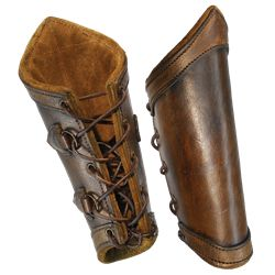 Traditional Leather Bracers - LP0144 by Medieval Collectibles