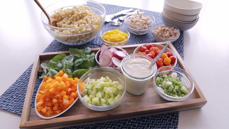 Bar à salade de macaroni | Cuisine futée, parents pressés