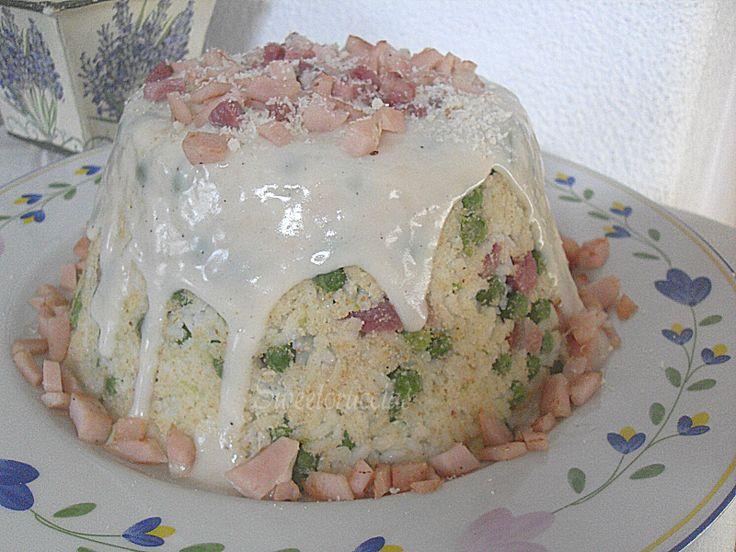 Turbante di riso con pancetta e besciamella