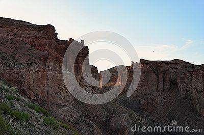 Sunrise in Charyn canyon, Kazakhstan