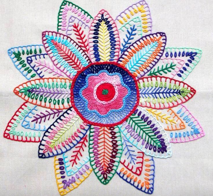 How to crochet a beautiful and colorful mandala diy crafts tutorial - 1000 Images About Mandalas On Pinterest Embroidery
