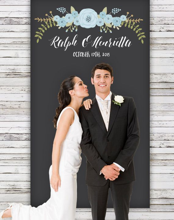 "This 4'x7' (48"" x 85"") custom wedding backdrop banner is personalized with your names and date and makes the perfect background for photos, or for behind the sweetheart table. See more here: https://www.etsy.com/listing/109863914/personalized-wedding-backdrop-with?ref=shop_home_active_7"
