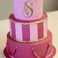 Victorias Secret three tier custom cake for corporate