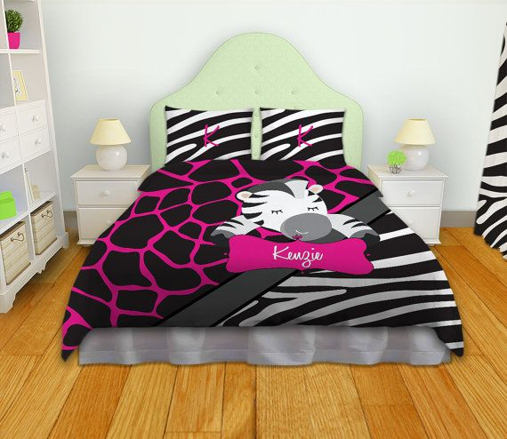 Kids Bedding Kids Comforters Zebra Print by EloquentInnovations