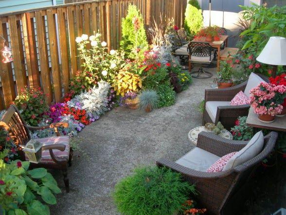 decoracion de patios pequenos y estrechos