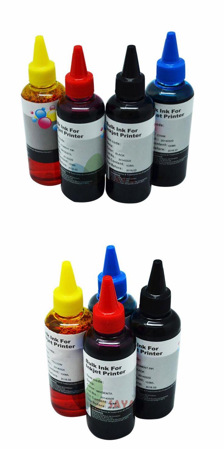 [Visit to Buy] 400ML Universal Refill Ink kit for Epson Canon HP Brother Lexmark DELL Kodak Inkjet Printer CISS Cartridge Printer Ink #Advertisement