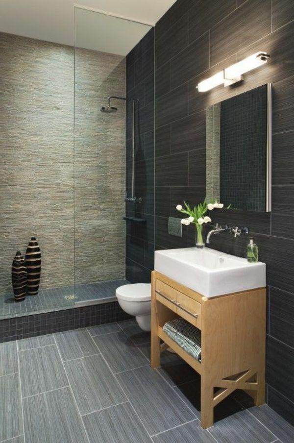 salle de bains grise, designs élégants de salle de bains