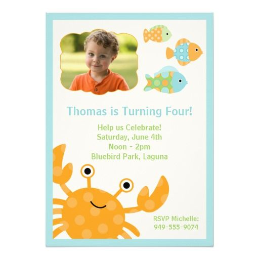 375 best Ocean Birthday Party Invitations images – Child Birthday Party Invitations